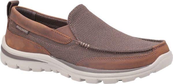 Skechers Superior Milford Slip On Mens Shoes Brown
